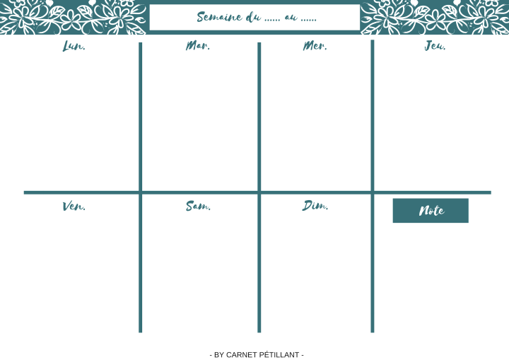 Kit d'organisation. Weekly planner. Printable. Organization.